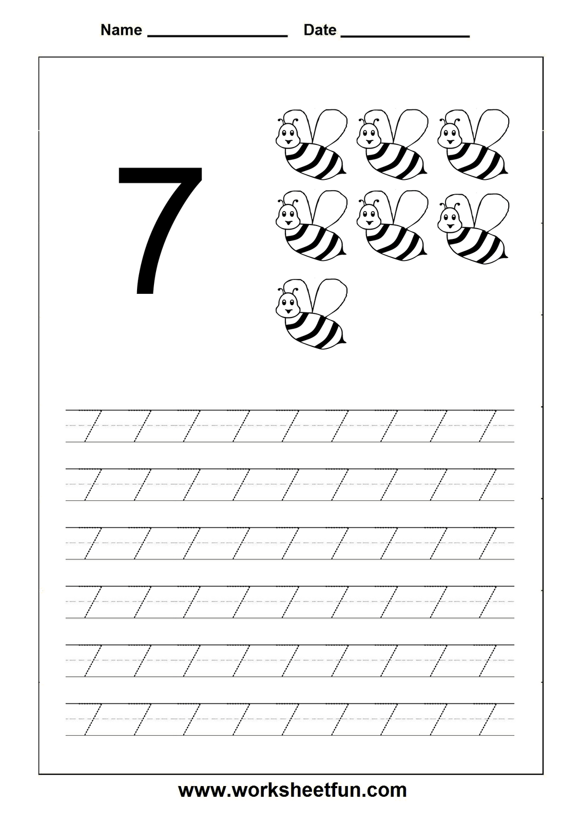 Number Tracing Worksheet