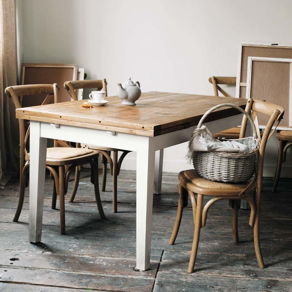 Tavolo allungabile per sala da pranzo in massello di legno L 160 cm Tradition  Maisons du Monde