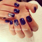 simple gel nail design nails