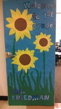 Sunflowers fall classroom door | Classroom Door Decor ...