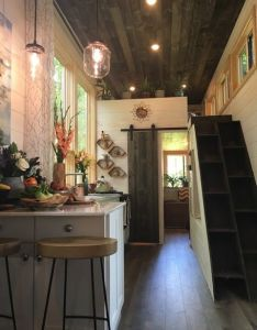 tiny house interior built and featured on nation also rh pinterest