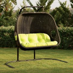 Swing Egg Chair Uk Fold Out Chairs Walmart Cool Frontyard Exterior Design With Black Rattan Hanging