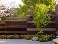 staggered horizontal fence ... perfect for privacy on ...