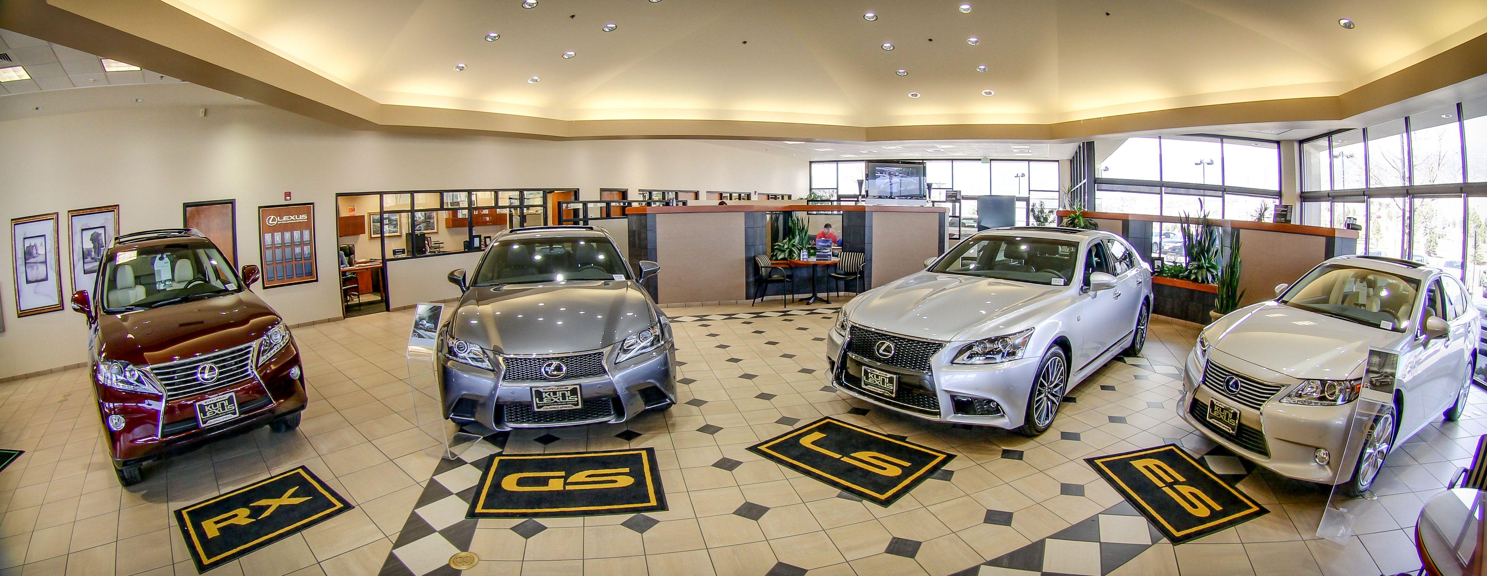 Kuni Lexus of Colorado Springs dealership showroom New Lexus eye