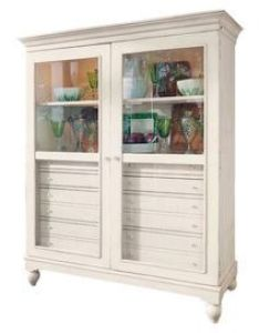 Showcase family heirlooms and curios in this lovely door display cabinet interior also rh pinterest