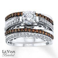 LeVian Chocolate Diamonds|1 1/3 ct tw Bridal Set|14K Gold ...