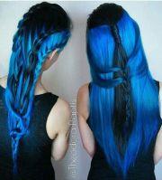 royal blue dyed hair color