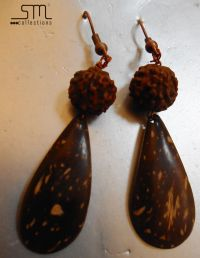 coconut shell earrings | Sm collections | Pinterest ...