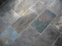 grey slate tile (some color, but not too much) for master ...