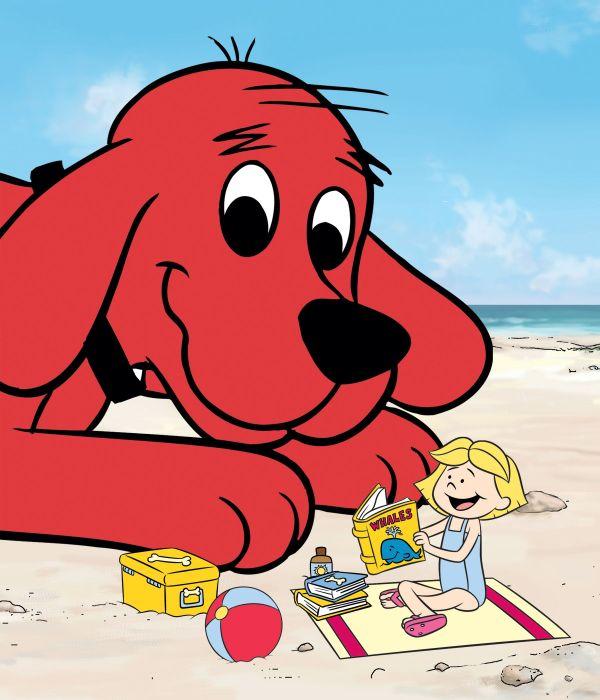 Clifford And Emily Elizabeth Blast Beach Summer Big Red Dog