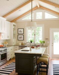 Kitchen interior design with vaulted ceiling house designinterior homeinterior ideas also taking care of your home and surrondings is essential for self rh pinterest