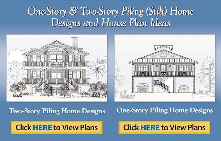 Piling Pier Stilt Houses Hurricane Coastal Home Plans   Ideasidea