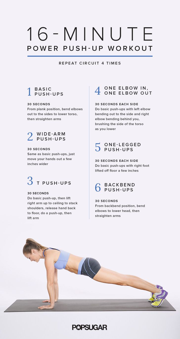 16 Minutes Closer To Buff Arms Push Up Workout Workout Workout Posters And Exercises
