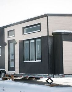 The ebene  stylish and functional tiny house designed to offer all amenities also rh pinterest