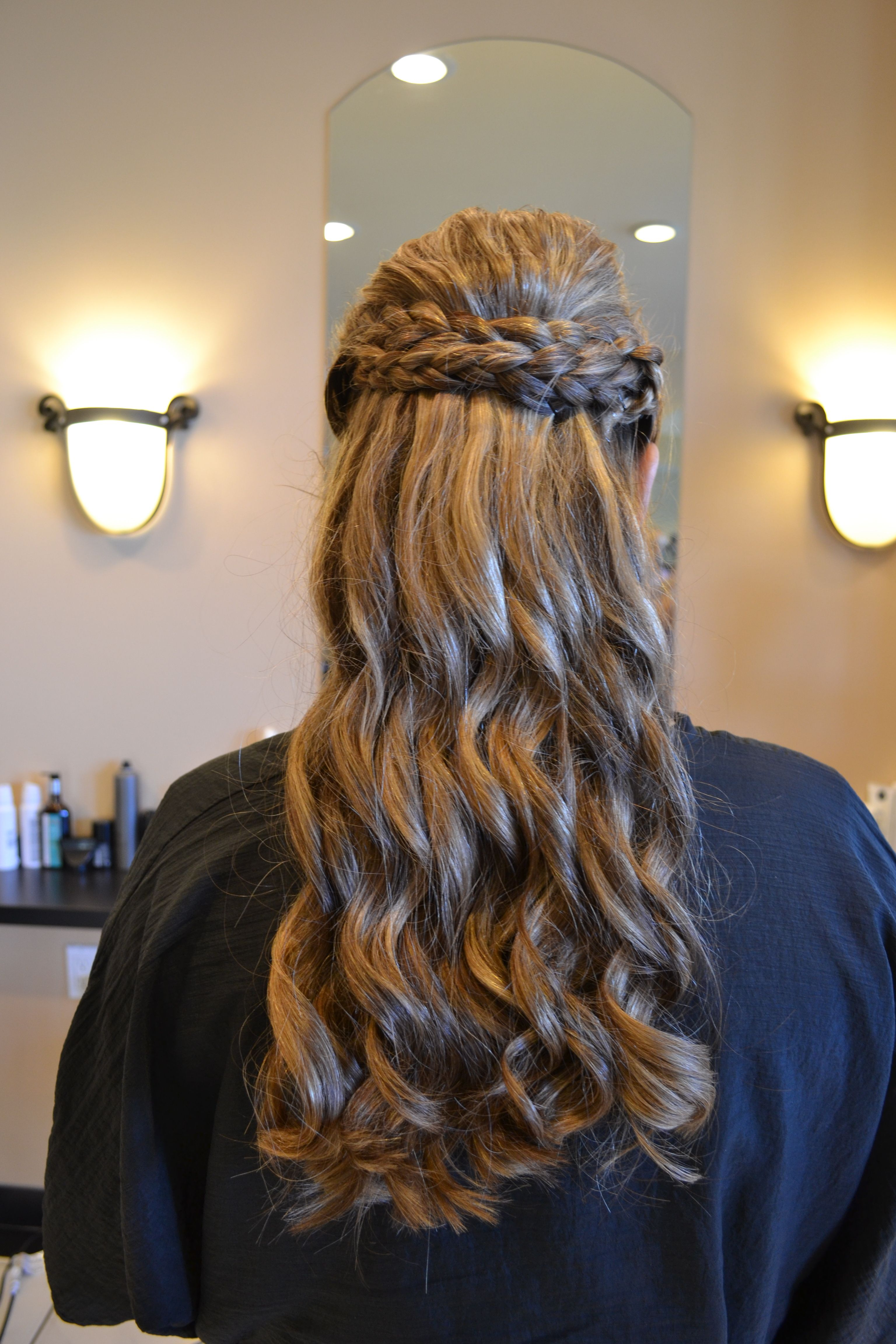 Curly Bridesmaid Hairstyle For Wedding WEDDING! Pinterest
