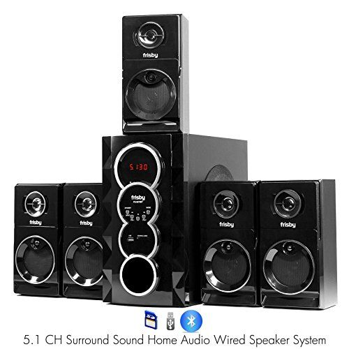 Frisby fs bt surround sound home theater speakers system with bluetooth usb sd also rh pinterest