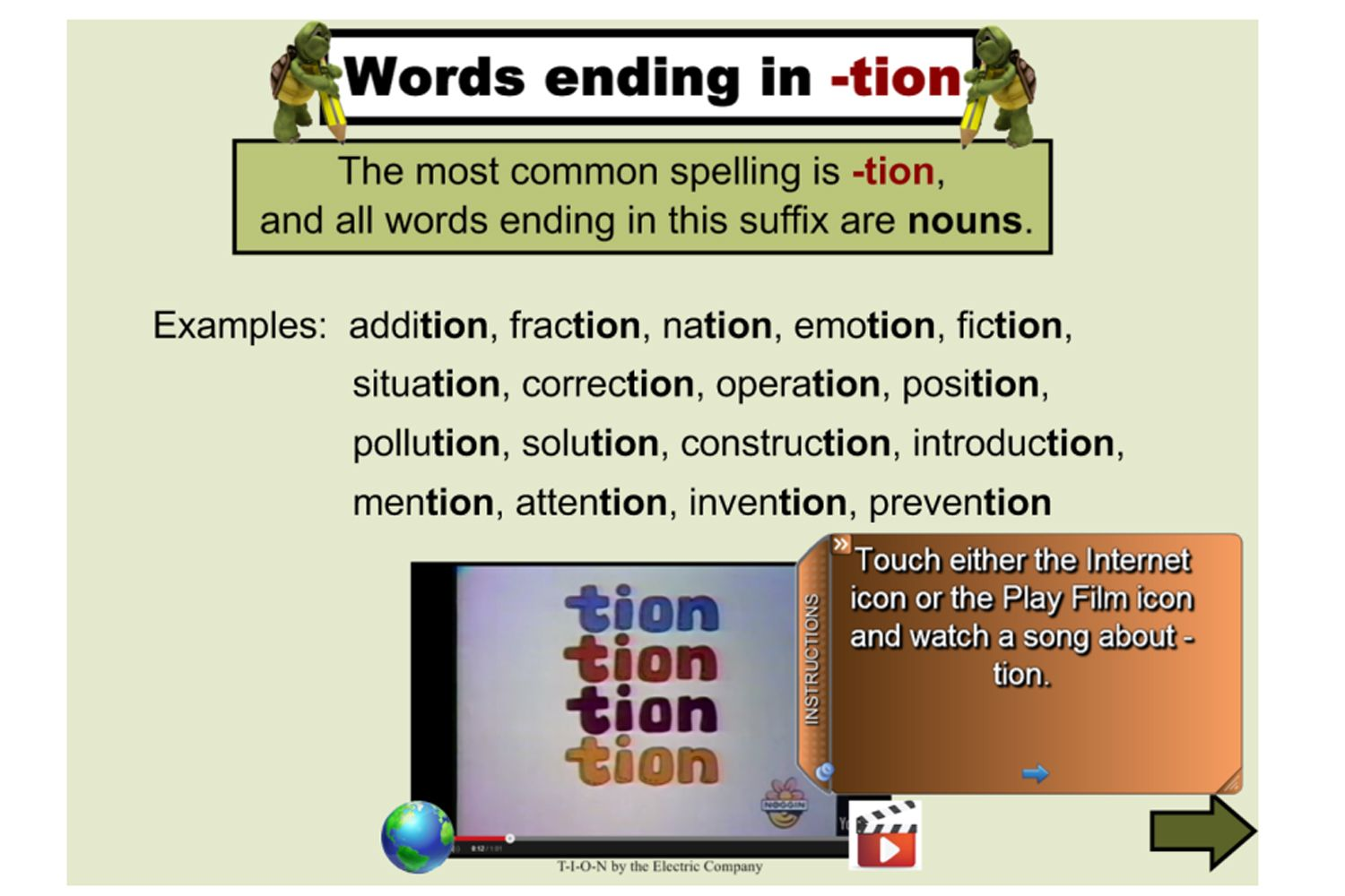 A Great Lesson For Studying The Spelling Of Words Ending