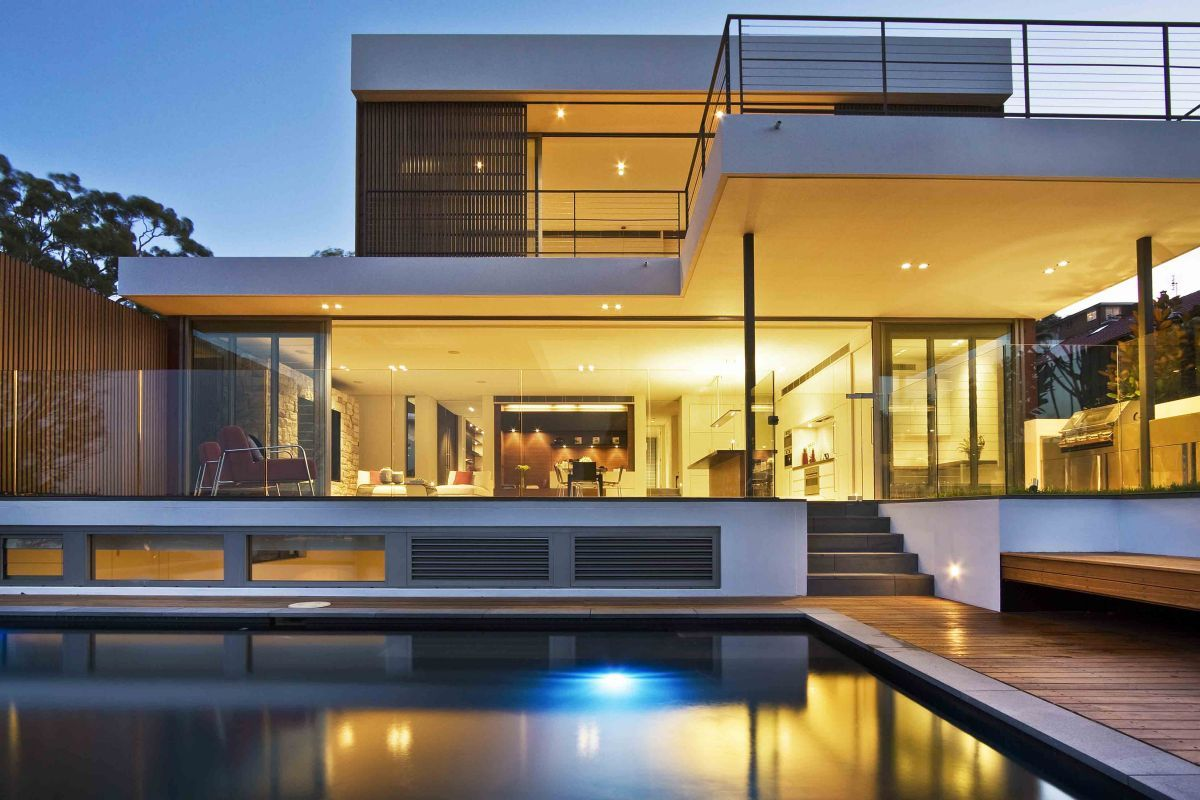 Contemporary House Designs Other Design Terrific Blue Private