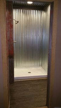 Galvanized steel shower. | bathroom remodel | Pinterest ...