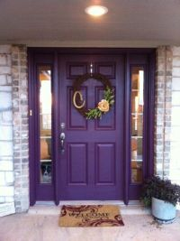 Purple Front Door & Awesome Wreath- this is the one for so ...