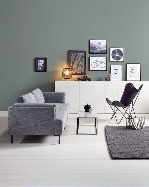 Groene muur woonkamer  Green wall livingroom KARWEI 1