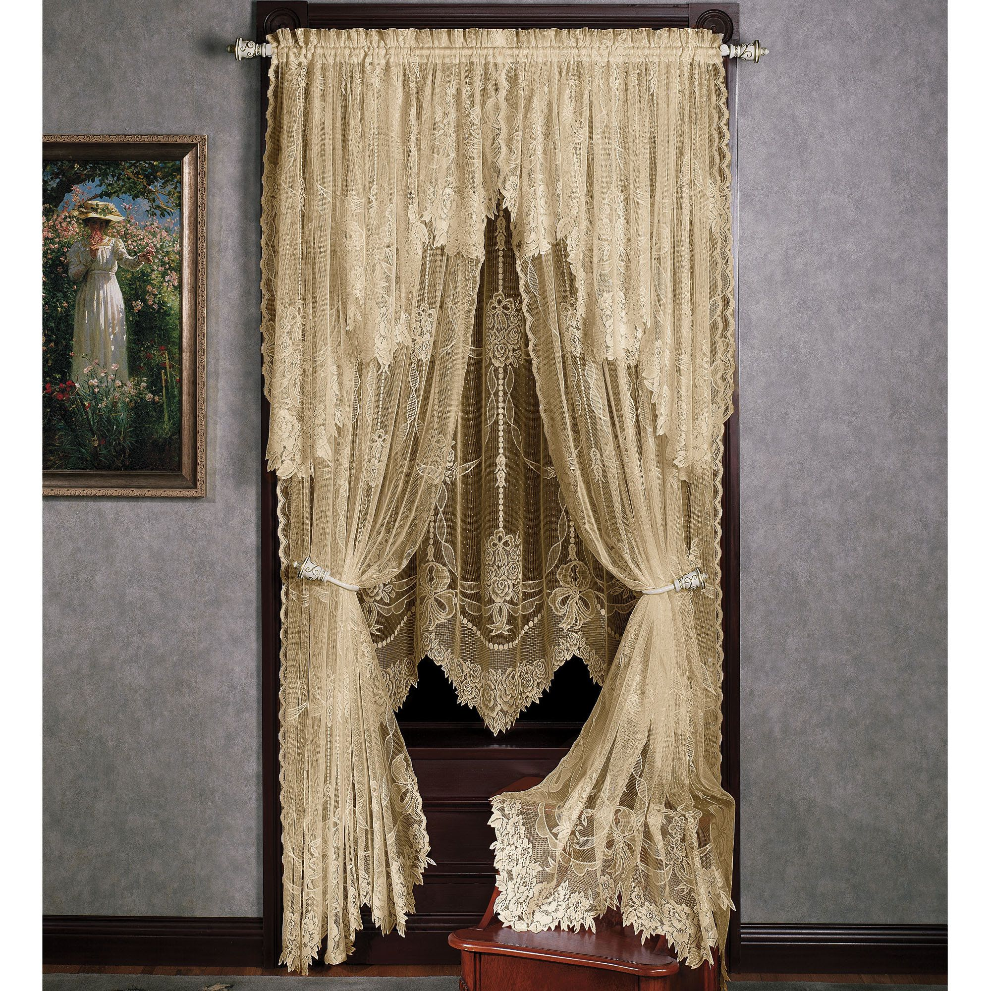 french lace kitchen curtains hardware for cabinets and drawers best 25+ victorian window treatments ideas on pinterest ...