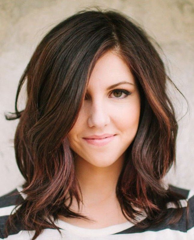 Young Girls Hairstyles With Colored Shoulder Length Haircuts Wavy