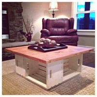 Our homemade apple crate coffee table! | DIY. | Pinterest ...