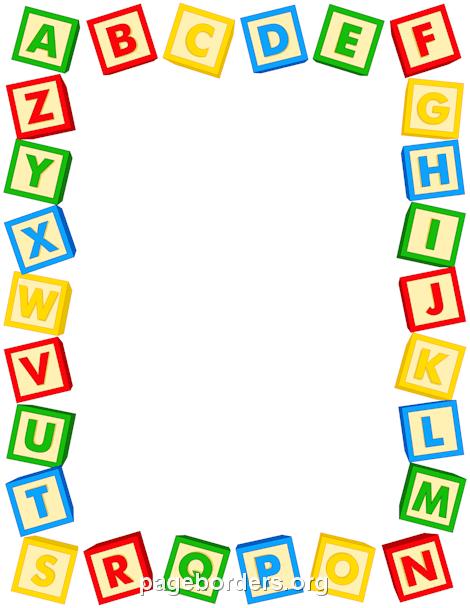 alphabet blocks border yaniry