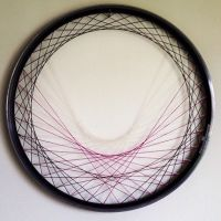 Recycled Bicycle Wheel Laced Wall Art - purple, string art ...