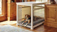 Dog Crate Furniture for Best Pets Cage Design: Wooden Dog ...