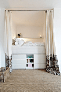 Cozy Bedrooms Just Big Enough for a Bed | Small bedroom ...