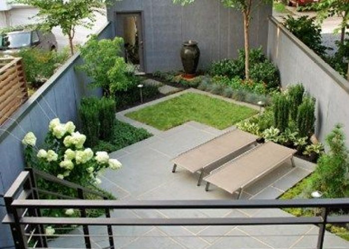 Small backyard back garden walled yard landscaping botanical decorators olney also