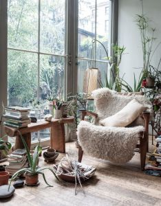 Work space home office living room credit maria cornejo and mark borthwick love the furry shag throw rug on chair interior decorator also when outdoor indoor blend into one something good rh pinterest