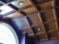 Angled Coffered Ceiling with arched window. Done in white ...