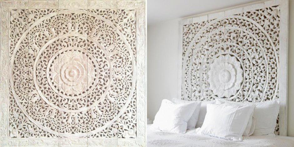 Simply Pure  handgesneden houtsnijwerk panelen  houten