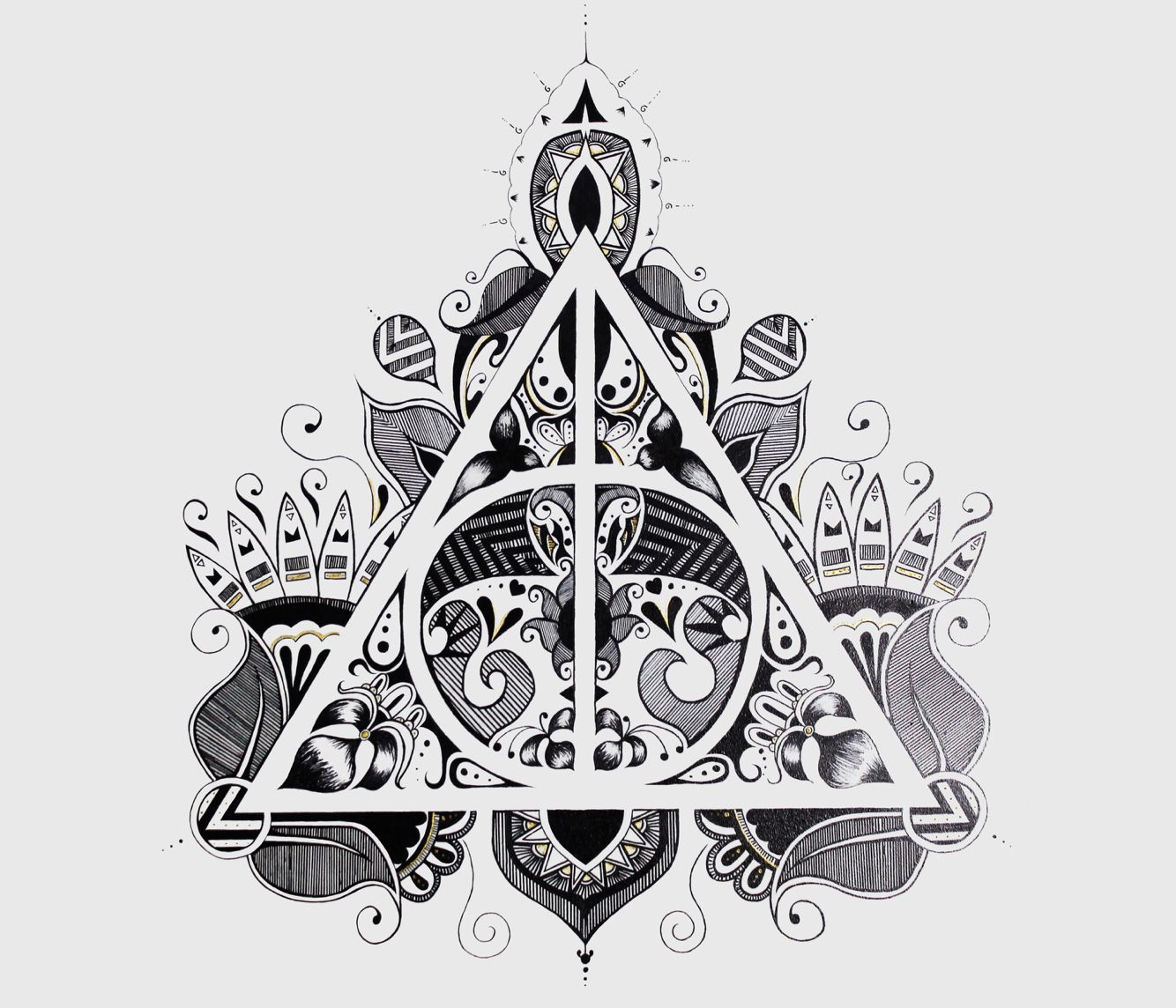 A #design of the Deathly Hallows symbol from Harry Potter