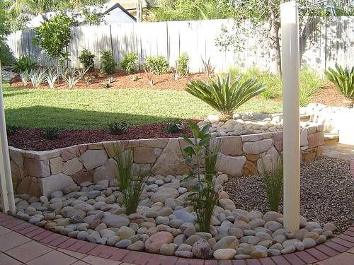 River Rock Garden Edging I Want To Make Pinterest River Rock