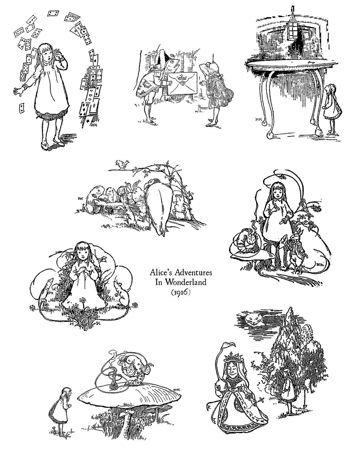 Ephemera S Vintage Garden Freebie Alice In Wonderland Digital Stamps