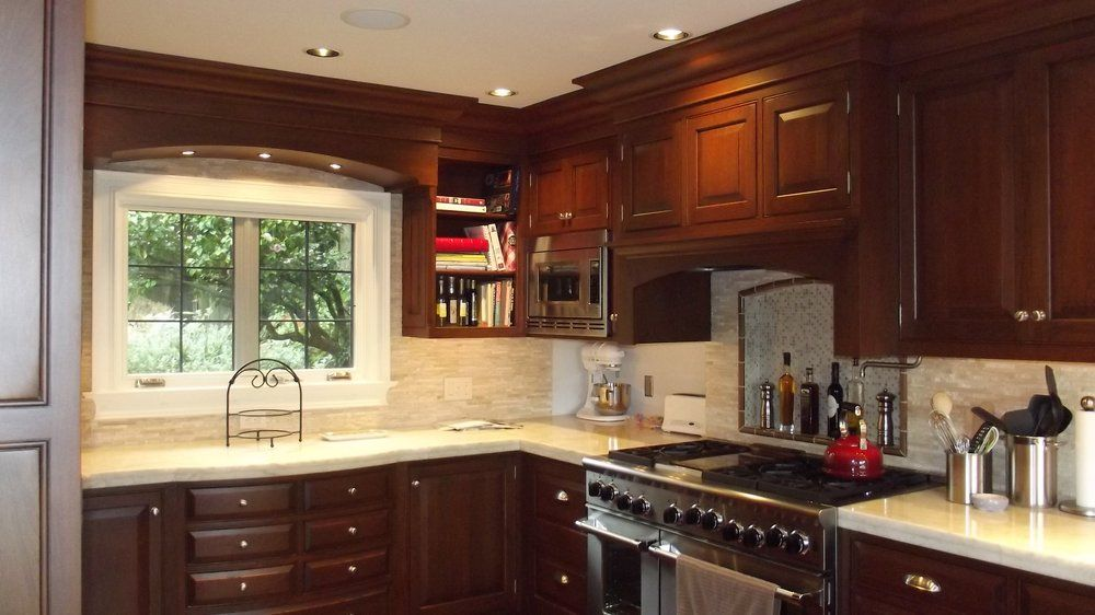 Rutt cabinetry cherry kitchen The 7 drw cabinet below the