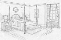 Dream Bedroom Sketch | Bedroom Ideas Pictures | Art ...