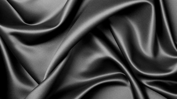 Black Silk Fabric Cloth Background Texture