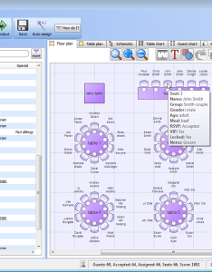 Table seating app perfecttableplan on windows showing the guests and floor plan also elitadearest rh