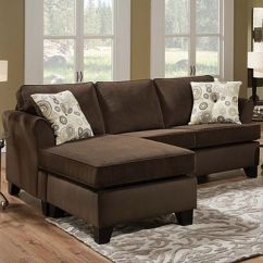 Simmons Reversible Chaise Sofa Vine Brown Leather Tufted Big Lots Sectional – Roselawnlutheran