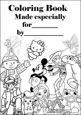 Make a colouring book! Print this A4 colouring book cover