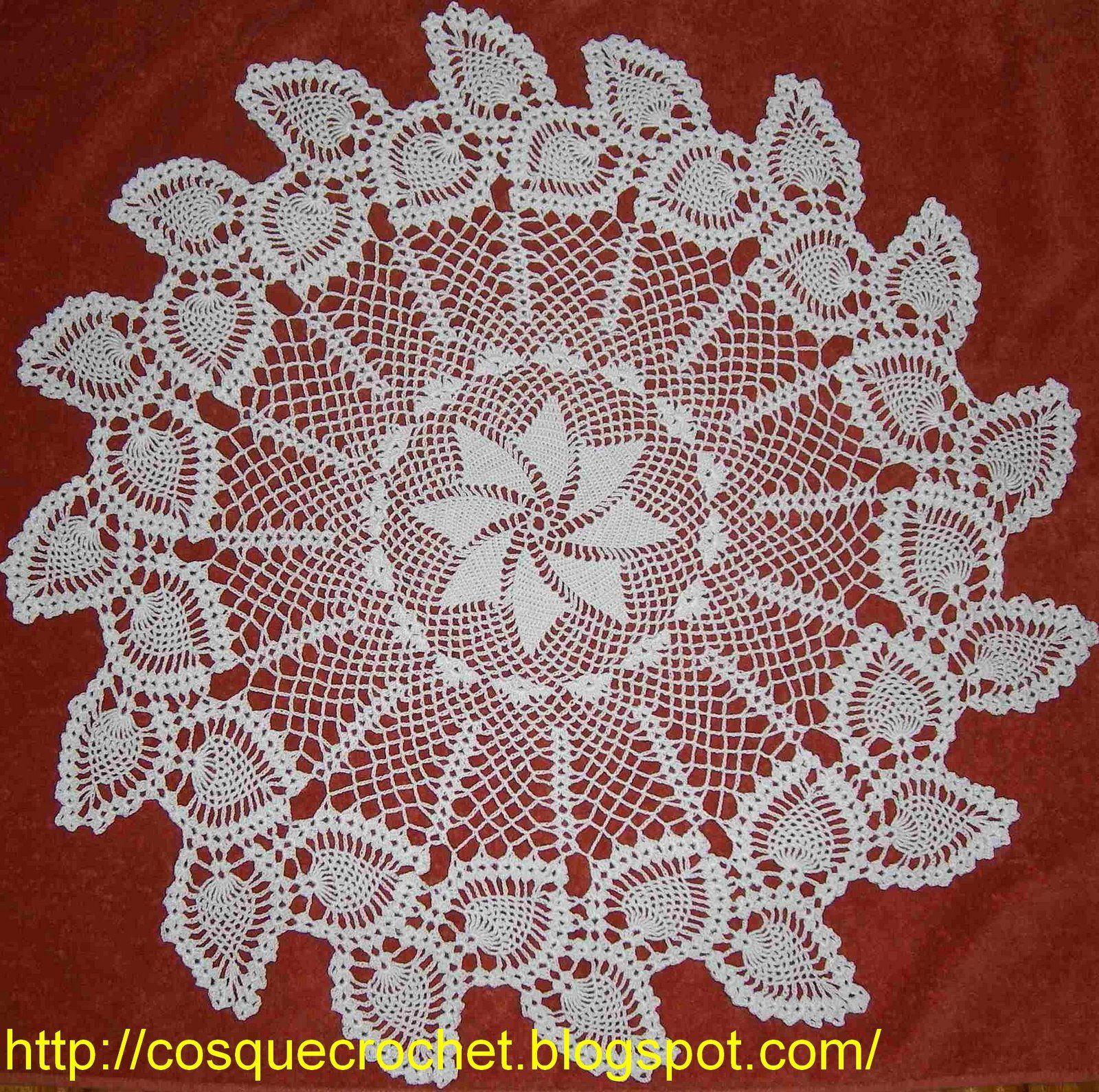 pineapple crochet doily diagram honeywell rth9580wf factory reset voy a mostrar algunos paños carpetitas que tejí para