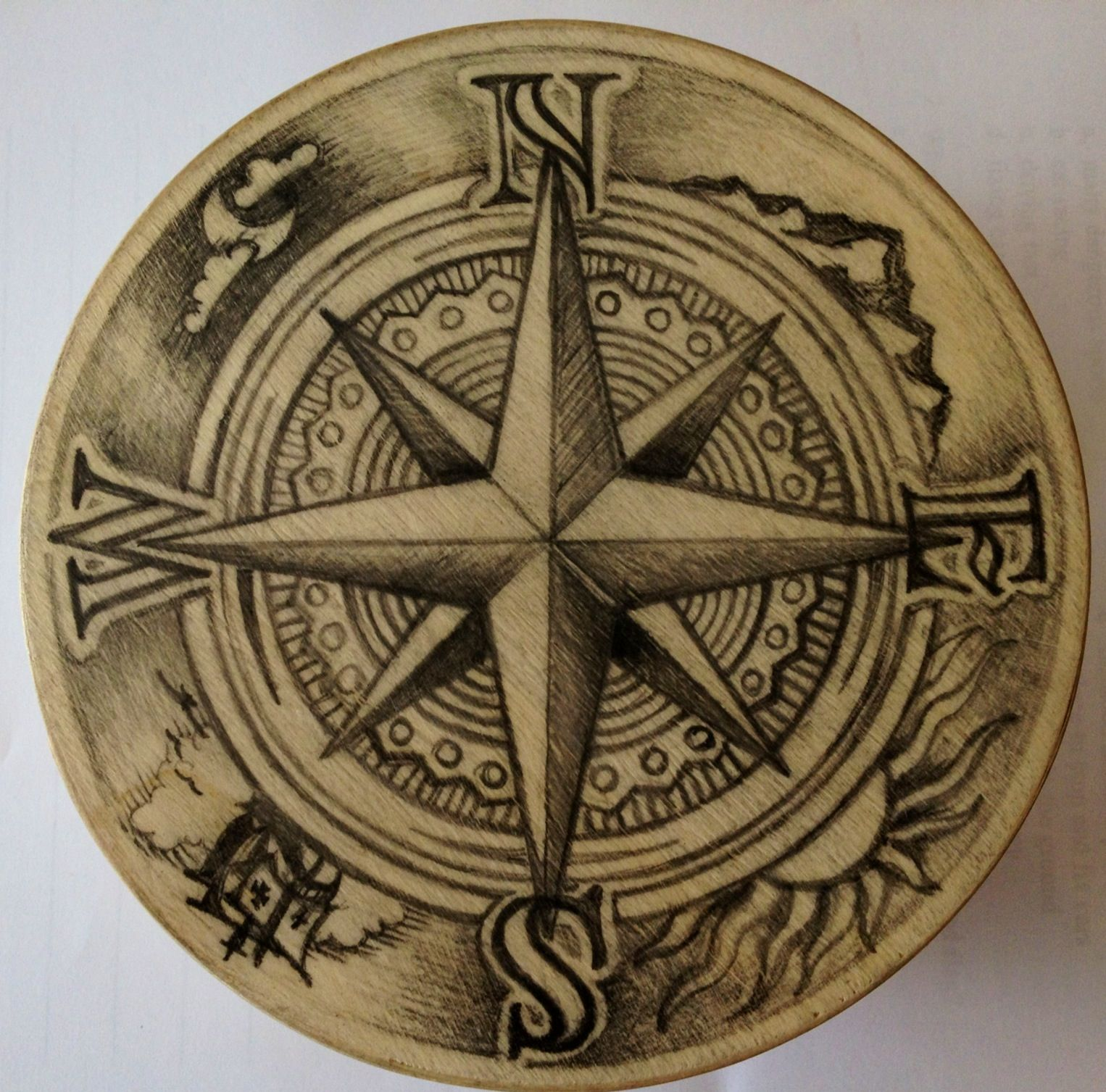 25 Basta Compass Rose Ideerna P Pinterest