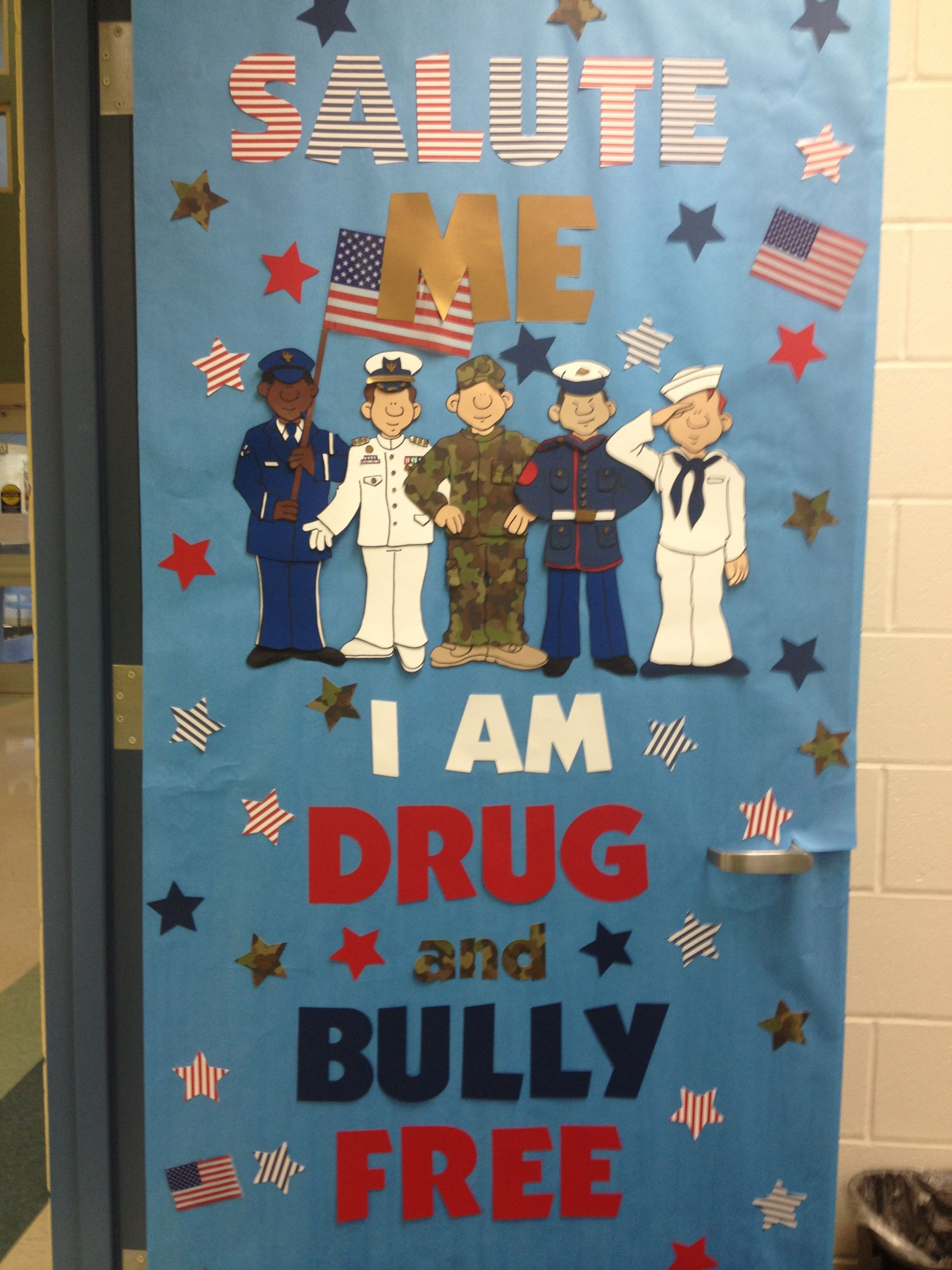Enter Your Best Red Ribbon Week Door Decorating Theme For