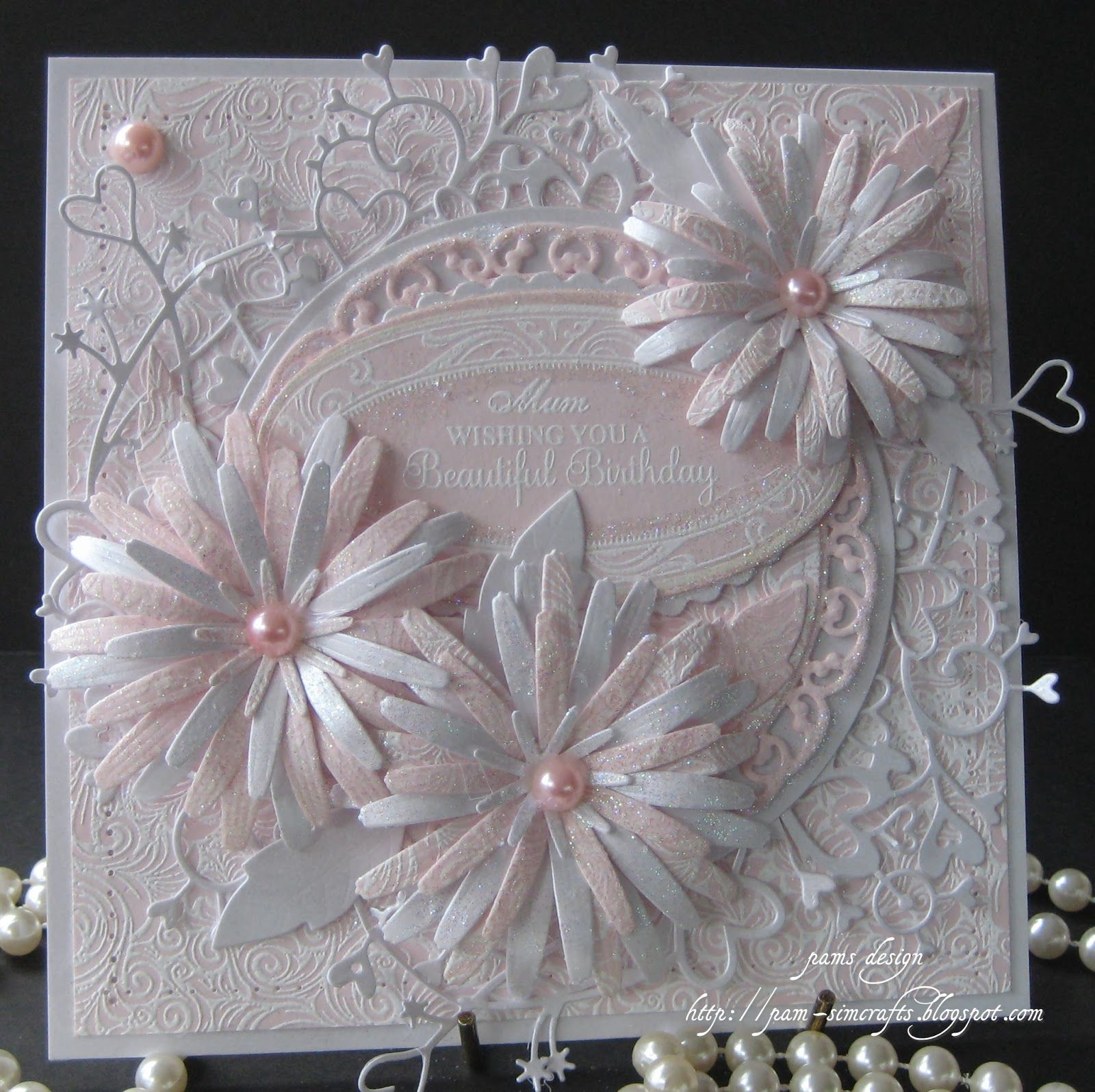 Tattered Lace Die Wedding Card I Like The Flowers