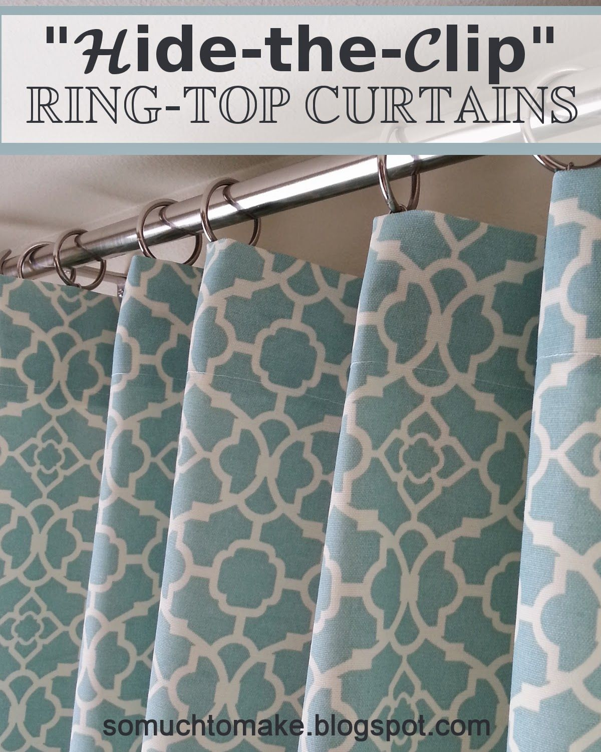 """Hide The Clip"""" Ring Top Curtains Enabling Curtain Tutorial And"""